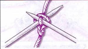 набор петель двумя спицами