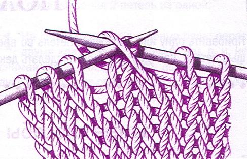 Убавка петель при вязание 85