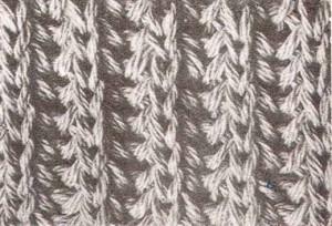 вязание спицами английская резинка
