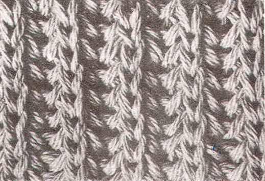 Схема вязки английской резинки
