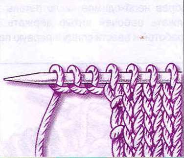 Прибавление петель на спицах в середине вязания 26