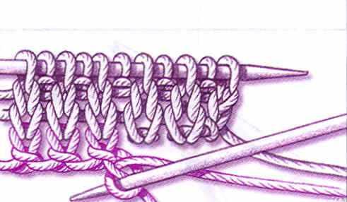по схеме вязания изделия.