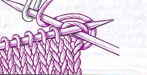Вязание спицами как ввести нить другого цвета