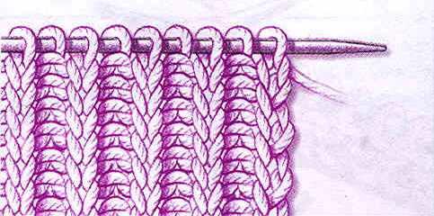 Как вязать резинку спицами для начинающих