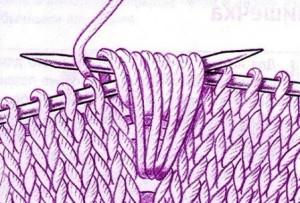вязание шишечек спицами