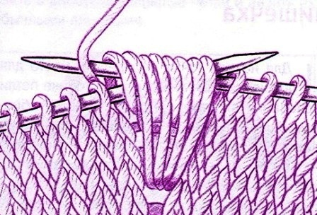 вытянутые петли и накиды,
