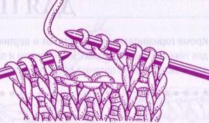 петли для пуговиц спицами