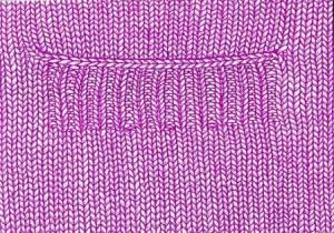 вязание карманов спицами