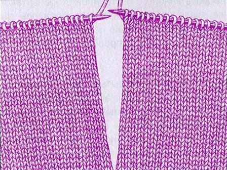Прорезной карман вязание спицами 674
