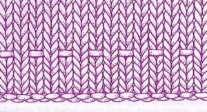 вязание кромки