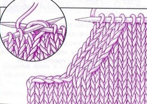 вязание проймы спицами