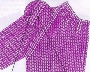 вязание спицами рукав реглан
