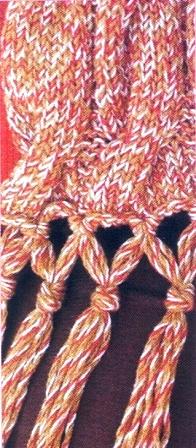 Как сделать край у шарфа