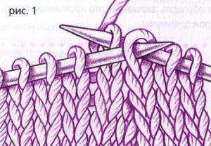 вязание выреза горловины