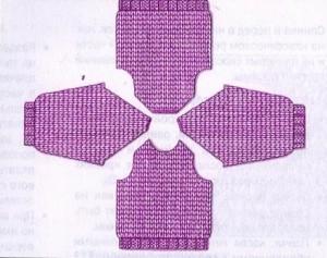 схема вязания рукава реглан