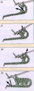 столбик с двумя накидами крючком