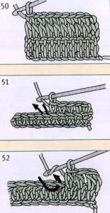 рельефный столбик с накидом крючком